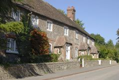 Cottages at Stanmer near Brighton. Sussex. England Stock Photo