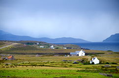 Cottages sur la péninsule d'Applecross Photographie stock libre de droits
