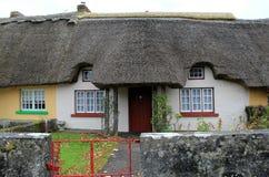 Cottages tatched colorés dans le village avec du charme d'Adare, Irlande, automne 2014 Photos stock