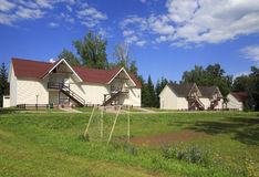 Cottages on the territory of complex Stock Images