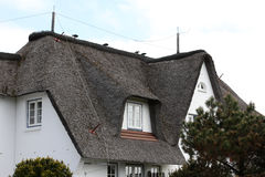 Cottages with thatched roof. Royalty Free Stock Photo