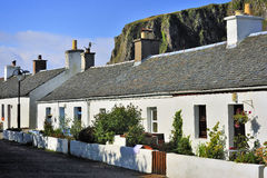 Cottages de Quarrymens, Ecosse Photographie stock libre de droits