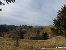 Cottages up on Moieciu de Jos. Romanian Mountains from Moieciu de Jos Stock Images