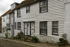 Cottages on uphill street, Rye Stock Image