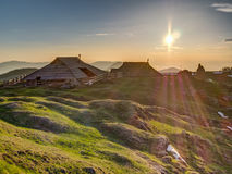 Cottages on Velika planina royalty free stock photos