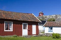 Cottages of Vrango, Bohuslan Coast, Sweden. Cottages at Vrango of Bohuslan Coast, Sweden royalty free stock photos
