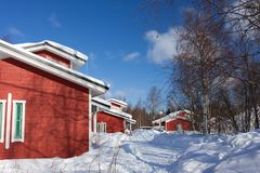 Cottages in winter Stock Image