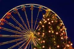 Cottbus圣诞节市场 库存照片