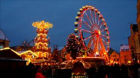 Cottbus christmas market stock video footage