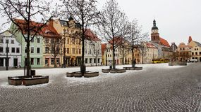 Cottbus City View In Winter Royalty Free Stock Photography