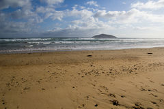 Cotters Beach, Wilsons Promontory. Victoria, Australia, with shellback island in the distance Stock Image