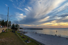 Cottesloe Beach. Late afternoon at Cottesloe Beach, a popular beach in Perth, Western Australia Stock Photos