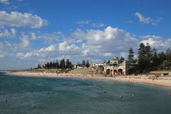 Cottesloe beach near Perth, Western Australia. Beautiful summer sunny day on the beach Stock Photography