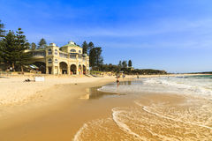 Cottesloe Beach, Perth. Wave washing onshore at Cottesloe beach in western Australia on sunny day Stock Photo