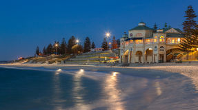 Cottesloe Beach in Perth at sunset. Cottesloe beach where the population of Perth come to sunbath Stock Image