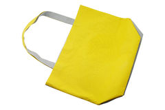 Cotton bag. Yellow cotton bag for shopping Stock Photography