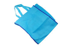 Cotton bag. Blue cotton bag for shopping Royalty Free Stock Image