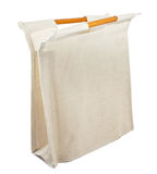 Cotton bag. On white background royalty free stock photography