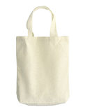 Cotton bag. (with clipping path) isolated on white background stock images