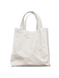 Cotton bag. On white background stock photography