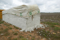 Cotton bales Royalty Free Stock Image