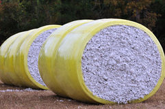 Cotton Bales Royalty Free Stock Images
