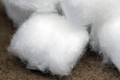 Cotton Ball. A photograph of a soft white fluffy cotton ball Royalty Free Stock Images