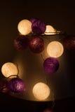 Cotton ball light , xmas day Royalty Free Stock Photos