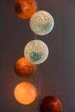Cotton ball lights Royalty Free Stock Image