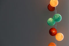 Cotton ball lights Royalty Free Stock Images