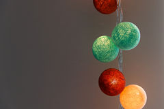 Cotton ball lights Royalty Free Stock Photography