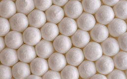 Cotton balls close-up. Background of white cotton balls close-up Royalty Free Stock Image