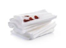 Cotton bandage on white background Royalty Free Stock Photo