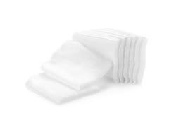 Cotton bandage on white background Stock Photos