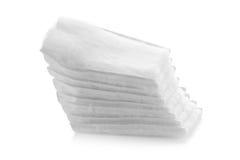 Cotton bandage on white background. Close up of bandage, White medical cotton, Cotton bandage on white background Stock Photography