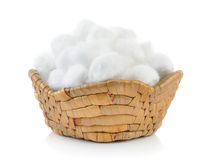 Cotton in the basket Stock Image
