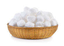 Cotton in the basket Royalty Free Stock Photo