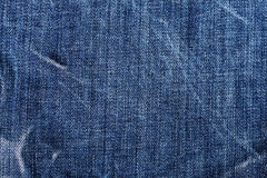 Cotton blue jeans background Royalty Free Stock Images