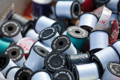Cotton bobbins Stock Photo