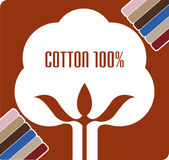 Cotton boll logo. Illustration art of a cotton boll logo with isolated background Royalty Free Stock Images