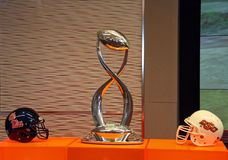 Cotton Bowl Trophy and Helmets Royalty Free Stock Photo