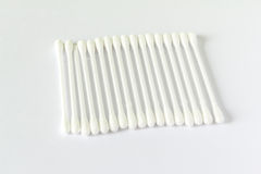Cotton brush. On white background Royalty Free Stock Photo