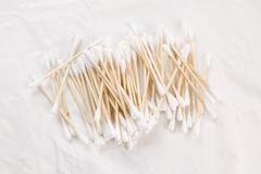 Cotton bud. Spread of the cotton swab Stock Photos