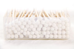 Cotton bud. Spread of the cotton swab Royalty Free Stock Image