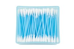 Cotton bud in box Stock Images