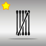 Cotton buds black Icon button logo symbol Royalty Free Stock Image