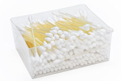 Cotton buds in box Stock Photography