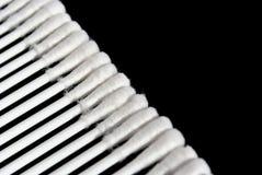 Cotton buds, diagonal Royalty Free Stock Photo