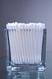 Cotton buds in glass Royalty Free Stock Photo