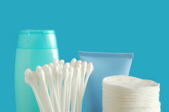 Cotton buds and pads Royalty Free Stock Photos